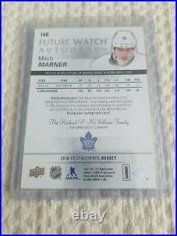 16-17 UD SP Authentic Future Watch Auto! Mitch Marner #/999 INSCRIBED