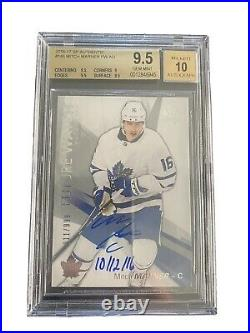 16-17 UD SP Authentic Future Watch Auto! Mitch Marner #/999 INSCRIBED! BGS 9.5