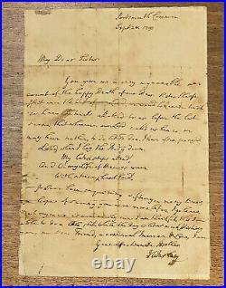 1790 JOHN WESLEY Autograph SIGNED Letter ORIGINAL Methodist HYMN Rare