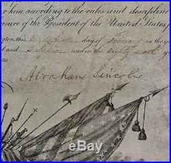 1862 Abraham Lincoln RARE Autograph MANUSCRIPT Signed CIVIL WAR Photograph U. S