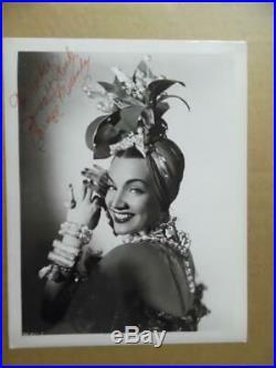 1940s CARMEN MIRANDA Signed Inscribed Photo Brazilian Bombshell Vintage Original