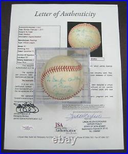 1953 Ty Cobb Signed Baseball Detroit Tigers Autograph Auto Inscribed Psa/dna Jsa