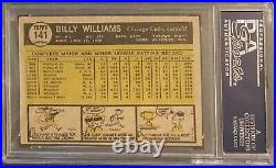 1961 Topps Billy Williams Signed Inscribed Hof 87 Rookie Card Psa Dna Authentic