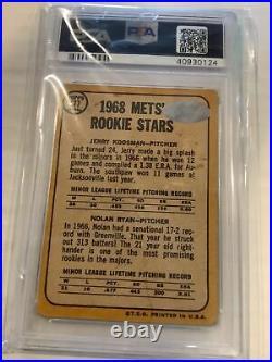 1968 topps koosmann nolan ryan auto rc #177 inscribed psa 10 Hof Miracle Mets