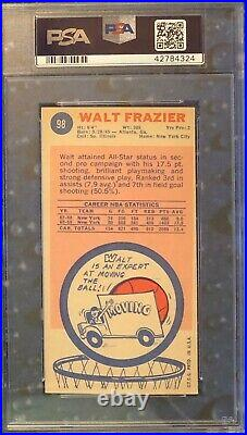 1969 Topps Walt Frazier Signed Rc Rookie Card Inscribed Hof 1987 Psa/dna 10 Auto