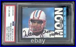 1985 Topps Warren Moon Rookie Rc Psa 10 Autographed/signed Inscribed Hof06