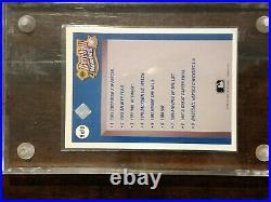 1990 Upper Deck Heroes Checklist Reggie Jackson Auto /2500 Inscribed Mr October