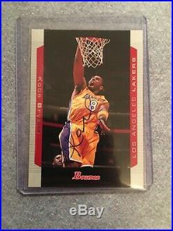 2004 Bowman Kobe Bryant Autographed Card Signed Auto Non Rc Rare Inscribed 8 COA