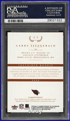 2004 Fleer Inscribed Bronze Larry Fitzgerald ROOKIE AUTO /50 #77 PSA 10 GEM MINT
