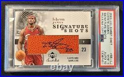 2005-06 LeBron James UD Sweet Shot Auto PSA 9/10 MINT #SS-LJ SSP Inscribed 23