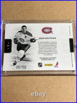 2010-11 Panini Dominion Notable Nicknames Jean Beliveau Le Gros Bill Inscribed