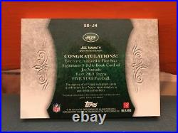 2010 Topps Five Star Joe Namath Auto & 3 Patches Inscribed # 12 #d 20