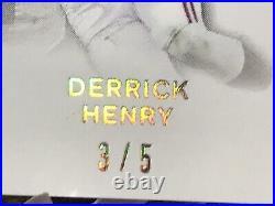 2016 Leaf Derrick Henry Auto Sp #3/5 Rc Rookie Inscribed 1/1 Ty Saban