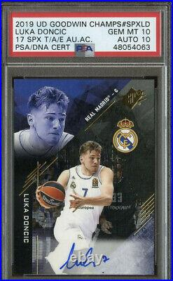 2017-18 Dual PSA 10 With10 Pre Rookie Auto Luka Doncic Inscribed #7 Autographed RC