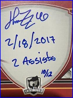 2017-18 THE CUP Autographed Ticket Booklets /10 Henrik Zetterberg Inscribed Auto