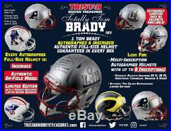 2019 Tristar HT Totally Tom Brady Autographed & Inscribed Full Sized Helmet Box