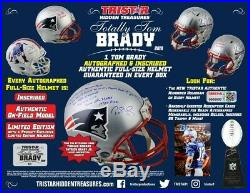 2019 Tristar Tom Brady Autographed Inscribed Authentic Full Size Helmet Box