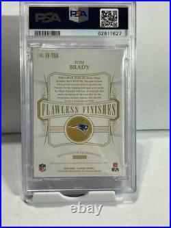 2020 Flawless TOM BRADY Super Bowl Finishes AUTOGRAPH Inscribed /10 PSA 10 POP 1