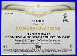 2021 Definitive JO ADELL Rookie RC Auto #/50 Inscribed LET IT EAT! ANGELS