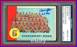 63 ROY Inscribed PSA DNA 10 Autograph Pete Rose Auto 1963 Topps Rookie Signed