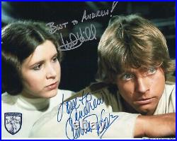 8X10 Carrie Fisher & Mark Hamill Signed & inscribed Star Wars Official Pix
