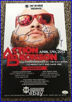 ACTION BRONSON INSCRIBED QUEENS NYC 11x17 Show POSTER AUTOGRAPHED JSA COA
