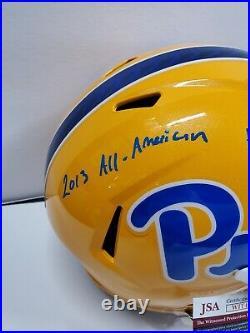 Aaron Donald Autographed Signed Inscribed Pitt Panthers Full Size Helmet Jsa Coa