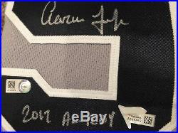 Aaron judge autographed jersey Inscribed 2017 AL ROY