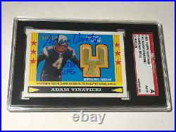 Adam Vinatieri Super Bowl 36 XXXVI Goal Post Inscribed 48 Yd Gwfg Signed Sgc