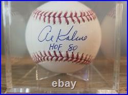 Al Kaline HOF 80 inscribed Autographed Baseball Detroit Tigers PSA COA