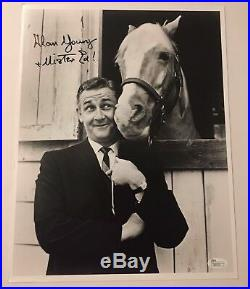 Alan Young Mister Ed Signed 11X14 JSA COA Autograph Photo Inscribed Scrooge