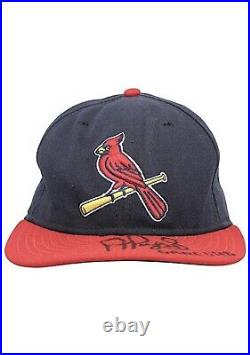 Albert Pujols Cardinals Game-Used Autographed & Inscribed Game Used Cap JSA
