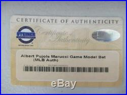 Albert Pujols Signed Auto Autograph Inscribed #5 Marucci Bat Steiner Coa Bt153