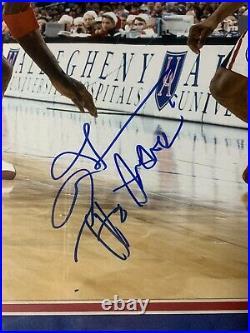 Allen Iverson Autograph Signed 76ers Inscribed Answer Framed JSA