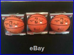 Allen Iverson Autographed Spalding Basketball INSCRIBED HOF 2K16