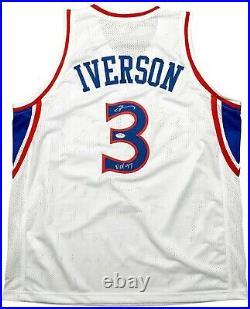 Allen Iverson autographed signed inscribed jersey NBA Philadelphia 76ers PSA COA