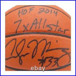Alonzo Mourning Signed Autographed Spalding Basketball Inscribed Hornets /33 UDA