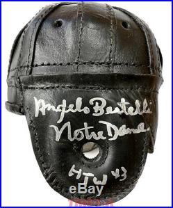 Angelo Bertelli Autographed Leather Mini Helmet Inscribed Notre Dame HTW 43