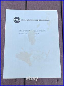 Apollo 13 Astronaut Jack Swigert Inscribed Autographed Signed NASA lithograph