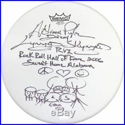 Artimus Pyle Autographed Lynyrd Skynyrd Multi Inscribed Drum Head (JSA)