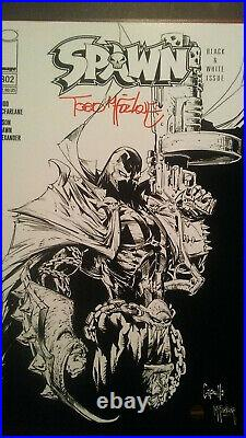 Autographed Art Print Image Spawn Signed By Todd McFarlane + COA