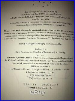 Autographed JK Rowling Harry Potter & Chamber Of Secrets 5th US Guaranteed Real