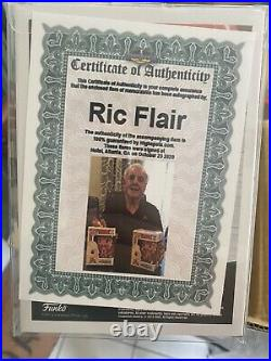 Autographed Ric Flair Funko Pop (inscribed)