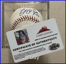 BRYCE HARPER Signed Autographed Inscribed Official Rawlings OML Baseball With COA