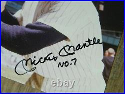 Beckett Mickey Mantle Signed Autographed Inscribed No. 7 8x10 Photo Picture