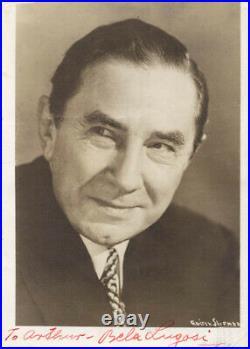 Bela Lugosi Autographed Inscribed Photograph