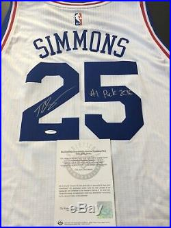 Ben Simmons Upper Deck Authentic Signed Autograph Jersey Inscribed #1 Pick 2016