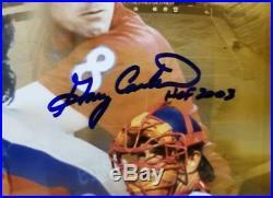 Berra, Bench, Fisk & Carter Signed & HOF Inscribed 12x36 Autograph Photo JSA COA
