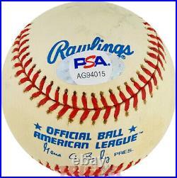Billy Cannon Signed Autographed Al Baseball Inscribed 20 Heisman 1959 Psa Lsu
