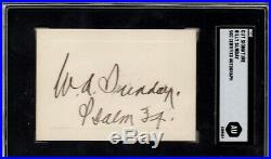 Billy Sunday signed cut SGC Slabbed Inscribed Bold auto d. 1935 Evangelist C389